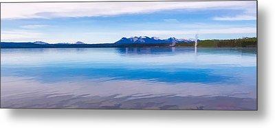 Blue Lake Horizon II Metal Print by Jon Glaser