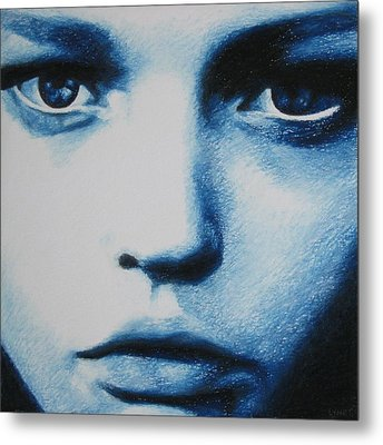 Blue Metal Print by Lynet McDonald