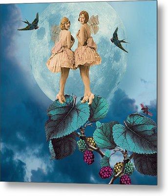 Blue Moon Metal Print by Olga Snell