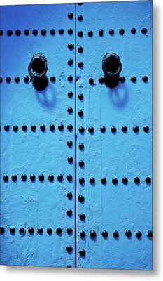 Blue Moroccan Door Metal Print by Kelly Cheng Travel Photography