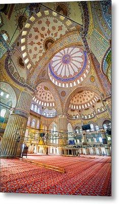 Blue Mosque Interior Metal Print by Artur Bogacki