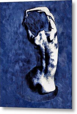Blue Nude After Picasso Metal Print by Joe Bonita