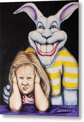 Blue Rabbit Metal Print by Matthew Lake
