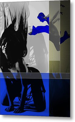 Blue Romance Metal Print by Naxart Studio