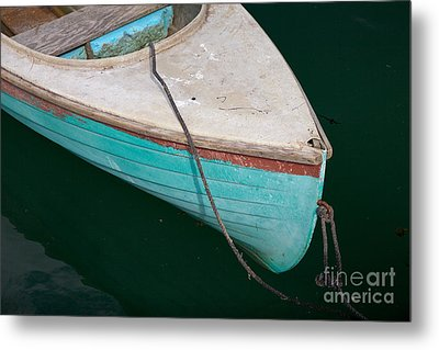 Blue Rowboat 1 Metal Print by Susan Cole Kelly