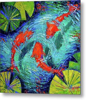 Blue Silence Metal Print by Mona Edulesco