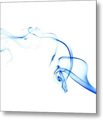 Blue Smoke Metal Print by Scott Norris
