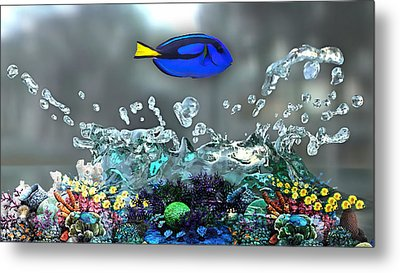 Blue Tang Collection Metal Print by Marvin Blaine