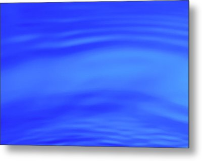 Blue Wave Abstract Number 4 Metal Print by Steve Gadomski