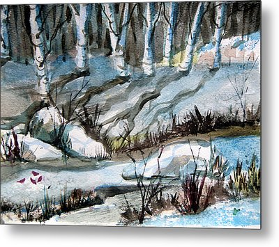 Blue Winter Metal Print by Mindy Newman
