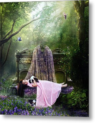 Bluebell Dreams Metal Print by Mary Hood