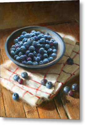 Blueberries Metal Print by Robert Papp