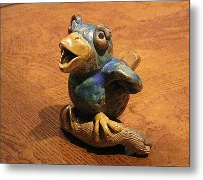 Bluebird Of Happiness Whistle Metal Print by Chere Force