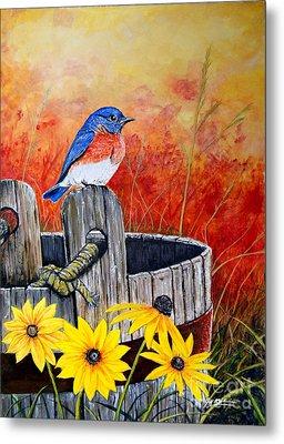 Bluebird Spring  Metal Print by Jeff McJunkin