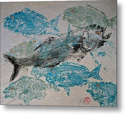 Bluefish Delight - Lunchtime  Metal Print by Jeffrey Canha