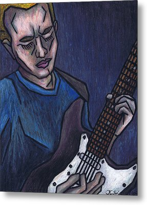Blues Player Metal Print by Kamil Swiatek
