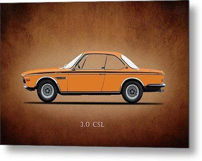 Bmw Csl 1972 Metal Print by Mark Rogan