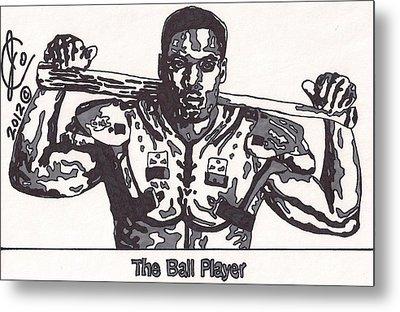 Bo Jackson The Ball Player Metal Print by Jeremiah Colley