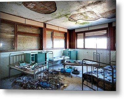 Boarding School Nightmare - Abandoned Building Metal Print by Dirk Ercken