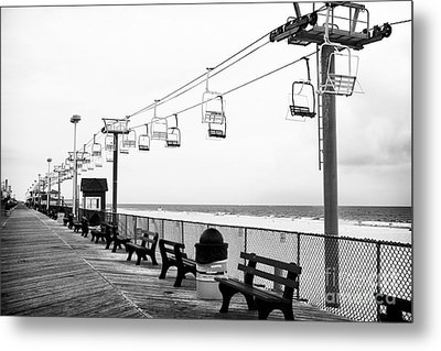 Boardwalk Ride Metal Print by John Rizzuto