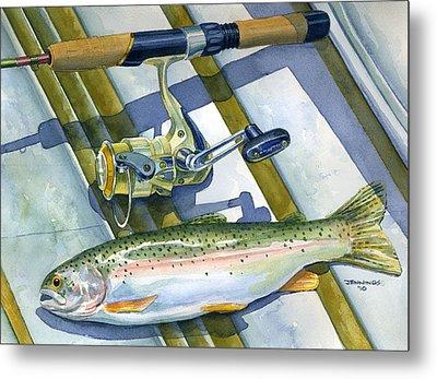 Boat Bottom Trout Metal Print by Mark Jennings