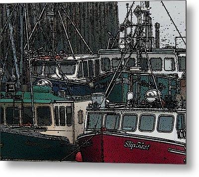 Boat City 2 Metal Print by Roger Charlebois