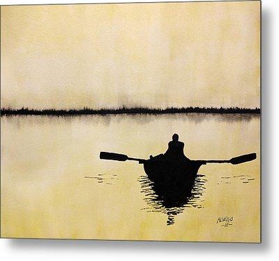 Boat Sunlight  Metal Print by Edwin Alverio