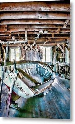 Boathouse Metal Print by Heather Applegate