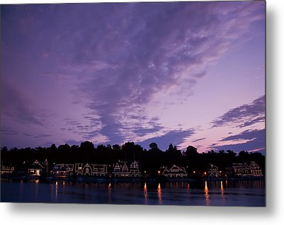 Boathouse Row In Twilight Metal Print by Bill Cannon