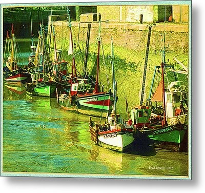 Boats At Honfluer France Metal Print by Fred Jinkins