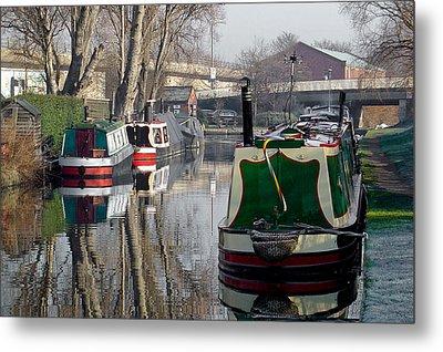 Boats At Horninglow Basin Metal Print by Rod Johnson