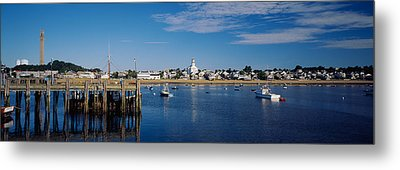 Boats In The Sea, Provincetown, Cape Metal Print by Panoramic Images