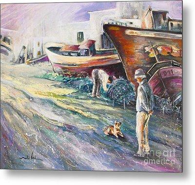 Boats Yard In Villajoyosa Spain Metal Print by Miki De Goodaboom