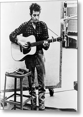 Bob Dylan B. 1941 Playing Guitar Metal Print by Everett