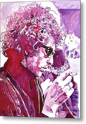 Bob Dylan Metal Print by David Lloyd Glover