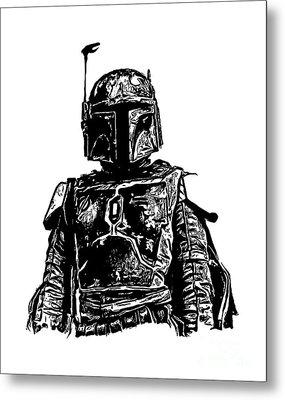 Boba Fett From The Star Wars Universe Metal Print by Edward Fielding