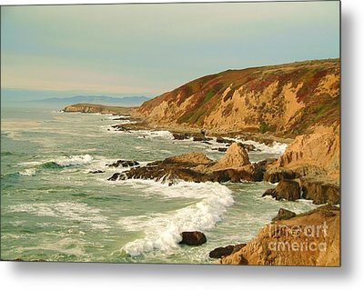Bodega Bay Coastline  One Metal Print by Alberta Brown Buller