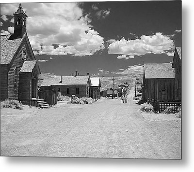 Bodie A Ghost Town Infrared  Metal Print by Christine Till