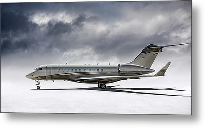 Bombardier Global 5000 Metal Print by Douglas Pittman