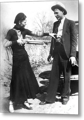Bonnie And Clyde, 1933 Metal Print by Granger