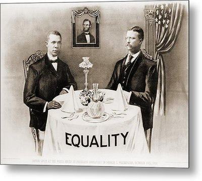Booker T. Washington Dines Metal Print by Everett