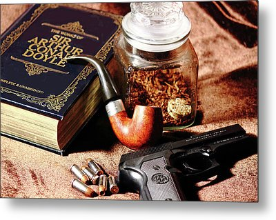 Books And Bullets Metal Print by Barry Jones