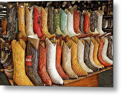 Boots In Every Color Metal Print by Brenda Bryant