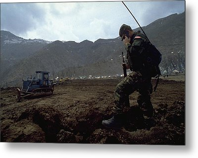 Metal Print featuring the photograph Boots On The Ground by Travel Pics