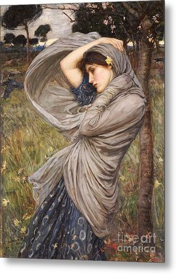 Boreas Metal Print by John William Waterhouse