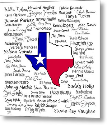 Born In Texas Metal Print by Shirley Stalter