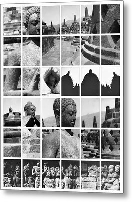 Borobudur In Frame Metal Print by Mario Bennet
