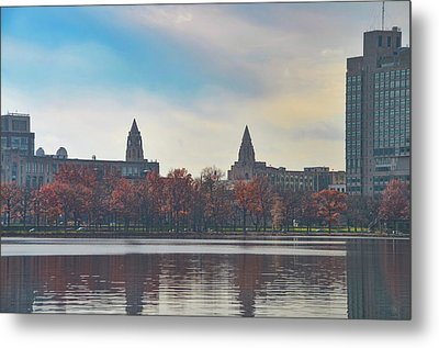 Boston College From The Charles River Metal Print by Bill Cannon