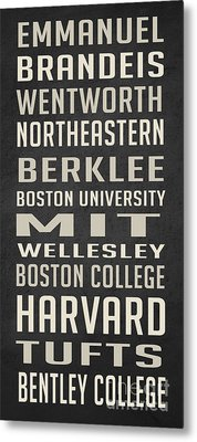 Boston Colleges Poster Metal Print by Edward Fielding