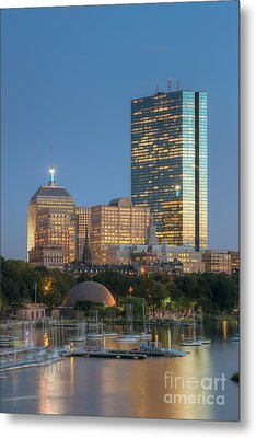 Boston Night Skyline Iv Metal Print by Clarence Holmes